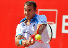 Lukas Rosol ATP Tennis player. ATP Tennis player Lukas Rosol hits the ball during a match Stock Photo