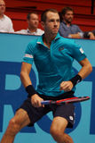 Lukas Rosol (CZE). VIENNA, AUSTRIA - OCTOBER 23, 2015: Lukas Rosol (CZE) during his quarter final match against Gael Monfils (FRA) at the Erste Bank Open in Stock Photography