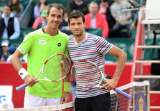 Lukas Rosol and Grigor Dimitrov Stock Images