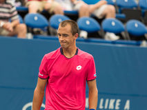 Lukas Rosol. Plays center court at the Winston-Salem Open Stock Image