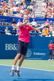 Lukas Rosol. Plays center court at the Winston-Salem Open during his 3-set win over Jerzey Jankowicz Stock Photography