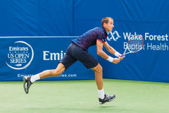 Lukas Rosol. Plays center court at the Winston-Salem Open during his 3-set win over Jerzey Jankowicz Stock Images
