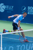 Lukas Rosol. WINSTON-SALEM, NC, USA - AUGUST 24: Lukas Rosol plays center court at the Winston-Salem Open on August 24, 2015 in Winston-Salem, NC, USA Royalty Free Stock Image