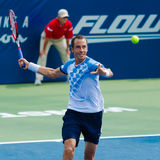 Lukas Rosol. WINSTON-SALEM, NC, USA - AUGUST 24: Lukas Rosol plays center court at the Winston-Salem Open on August 24, 2015 in Winston-Salem, NC, USA Royalty Free Stock Photos