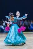 Lukashov Nikita and Kruisberg Sandrina perform Juvenile-1 Standard European program Stock Images