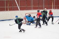 Lukashov`s memoriam game  in Podolsk Stock Photography
