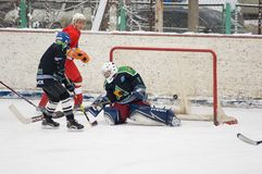 Goal to Avangard team gate Stock Images