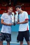 Lukasz Kubot (ПОЛИТИК) и Marcelo Melo (БЮСТГАЛЬТЕР) Стоковые Фото