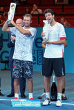 Lukasz Kubot (POL) and Marcelo Melo (BRA) Stock Photography