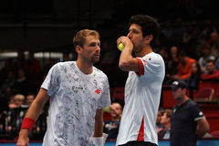 Lukasz Kubot (POL) and Marcelo Melo (BRA) Stock Image