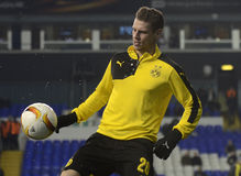 Lukasz Piszczek. Football players pictured prior to the UEFA Europa League round of 16 game between Tottenham Hotspur and Borussia Dortmund on March 17, 2016 at stock image