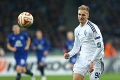 Lukasz Teodorczyk和球画象、UEFA欧罗巴16在发电机之间的秒腿比赛同盟回合和埃弗顿 库存图片
