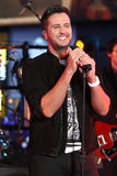 Luke Bryan. NEW YORK-DEC 31: Recording artist Luke Bryan performs onstage during Dick Clark`s New Year`s Rockin` Eve at Times Square on December 31, 2015 in New Stock Photo