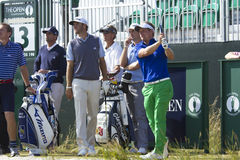 Luke Donald, Dustin Johnson and Keegan Bradley Stock Photography