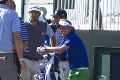 Luke Donald and Dustin Johnson Royalty Free Stock Photo