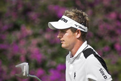 Luke Donald. Strolling to the 18th Green, putter in hand Royalty Free Stock Photos