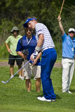 Luke Donald - One Handed Chip Royalty Free Stock Photography