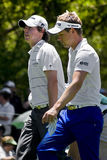 Luke Donald & Rory McIlroy. Paired for day 2, of the four day tournament Royalty Free Stock Image