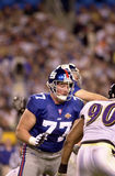 Luke Petitgout, Super Bowl XXXV. New York Giants OL Luke Petitgout, #77.  (Image from a color slide Royalty Free Stock Photography