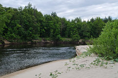 Lukh river (Russia) Stock Photography
