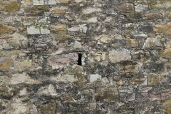 Luki dla broni w forteca ścianie zdjęcia royalty free