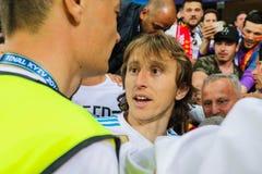 Luki Modric futbolista zdjęcie stock