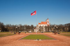 Lukiskes Square in Vilnius Royalty Free Stock Photography