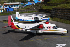 Lukla airport Royalty Free Stock Images