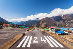 Lukla airport Stock Photography
