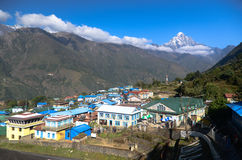 Lukla - Everest village Stock Images