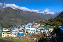 Lukla - Everest village. The village of Lukla in Sagarmatha National Park, Everest region, Nepal Stock Images