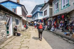 Lukla, Nepal stock foto's