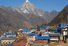 Lukla - villaggio Himalayan Fotografia Stock Libera da Diritti