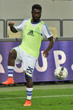 Lukman HARUNA is warming-up with the ball Royalty Free Stock Photos