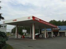 Lukoil-Behälterstation stockfotos