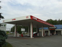 Lukoil behållarestation arkivfoton