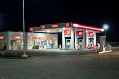 Lukoil bensinstation Royaltyfri Fotografi