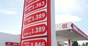 Lukoil gas station stock video