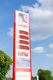 Lukoil price board Royalty Free Stock Images