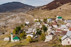 Lukomir, last Bosnia unspoiled village in remote mountains.  stock images