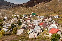 Lukomir, undiscovered and unspoiled last Bosnia village.  stock image