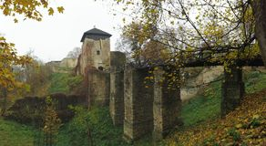 Lukov ruins in Hostynske vrchy hills near town Zlin Royalty Free Stock Photo