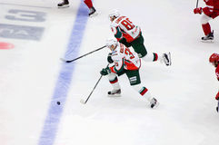 A Lukoyanov 89 und D Khlystov 35 Stockbilder