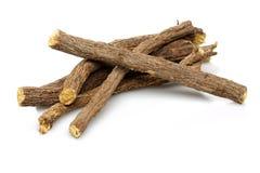 Lukrecjowego korzenia kije Zdjęcie Stock