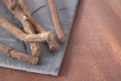 Lukrecjowy korzeń - Glycyrrhiza glabra zdjęcie royalty free