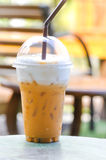 Lukrowa herbata lub Tajlandzka dojna herbata Obrazy Royalty Free