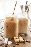 Lukrowa kawa w rocznika słoju Fotografia Royalty Free