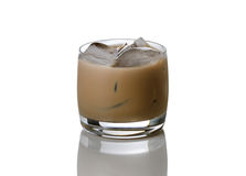 Lukrowa kawa z alkoholem przygotowywającym pić Zdjęcia Stock