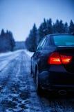 Lukrowa zimy droga Zdjęcie Royalty Free