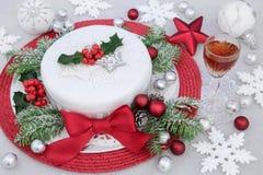 Lukrowy boże narodzenie tort Fotografia Royalty Free